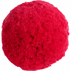 Cotton pom pom 7cm, red