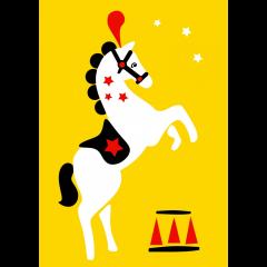 Postikortti, Sirkushevonen