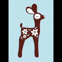 Postikortti,  Bambi