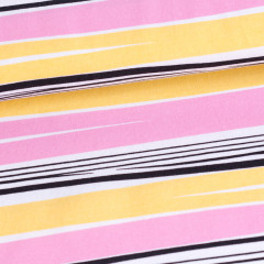 Waves organic jersey, light pink - yellow