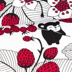 Myyryn mansikkapaikka trikoo, valkoinen - punainen