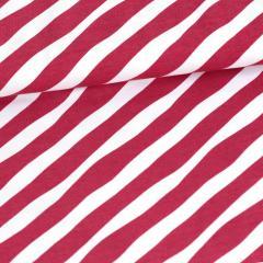 Diagonaali trikoo, punainen - valkoinen
