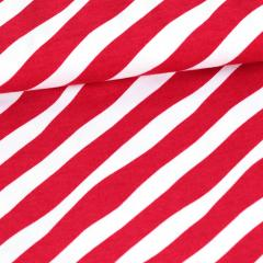 Diagonal organic jersey, red - white