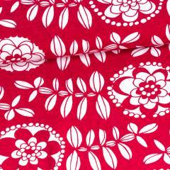 Fleur organic jersey, red