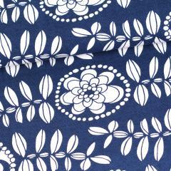 Fleur organic jersey, blueberry
