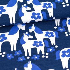 Horses organic jersey, blueberry