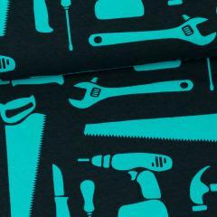Työkalut trikoo, turkoosi - musta