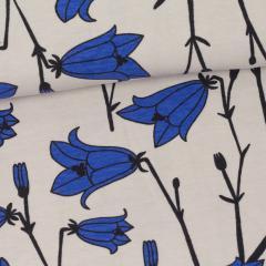 Bluebell organic jersey, sand - blue