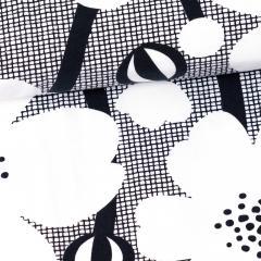 Buttercup organic jersey, black & white