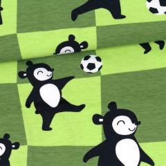 Ball game organic jersey, forest - apple