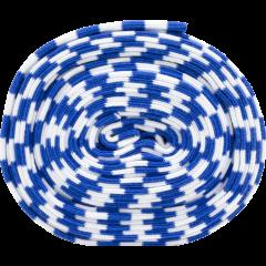 Organic ribbing, blue - white