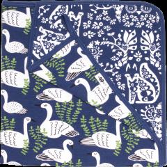 Organic jersey baby blanket,  Swan
