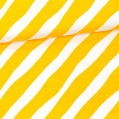 Diagonal organic jersey, sun - white