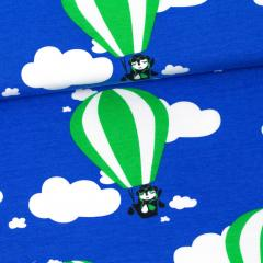 Hot air balloons organic jersey, blue - green