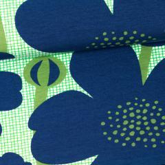 Buttercup organic jersey, blueberry - green