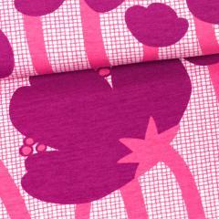 Buttercup organic jersey, purple - pink