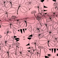 Onni organic jersey, light pink - black