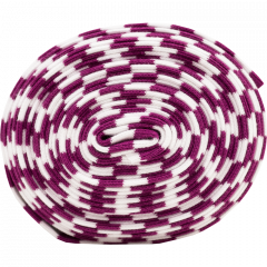 Organic ribbing, purple - white