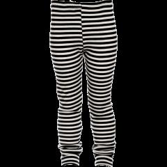 LOISTO housut - merinovilla, musta -  luonnonvalkoinen