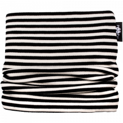 TUUBIHUIVI - merinovilla, musta - luonnonvalkoinen
