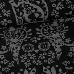 Mielikki organic jersey, dark grey - black