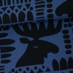 Moose organic jersey, blueberry