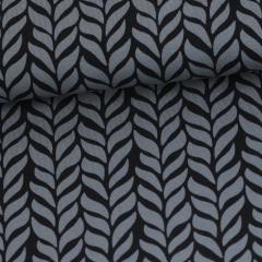 Plait organic jersey, dark grey - black