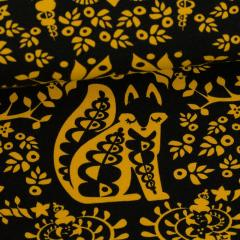 Mielikki organic sweatshirt knit, ochre - black
