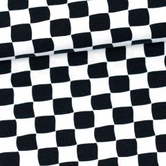 Checkers organic jersey, black & white
