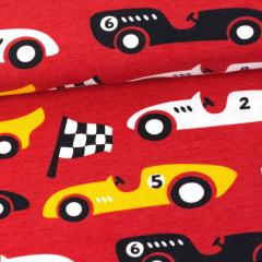 Race Cars organic jersey, red