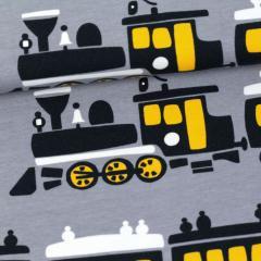 Train organic jersey, grey - sun
