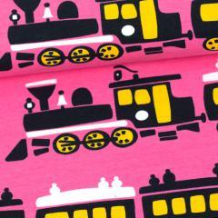 Juna trikoo, pinkki - aurinko