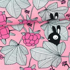 Hilda organic jersey, light pink - pink