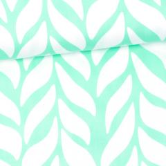 Plait organic cotton sateen, mint