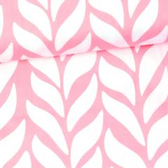 Plait organic cotton sateen, light pink