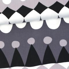 Jussi organic cotton sateen, dark grey - grey